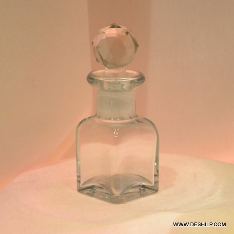 Clear Glass Small Decanter Bottle