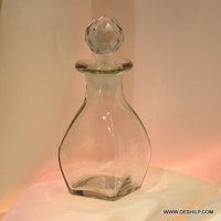 Glass Clear Perfume Bottle & Decanter