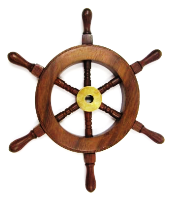 Sheesham Wood Mini Ship Wheel 9.25 Inch