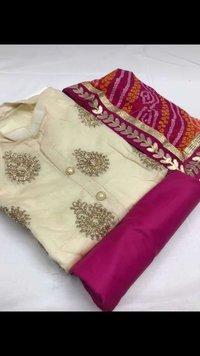 chanderi dress materials
