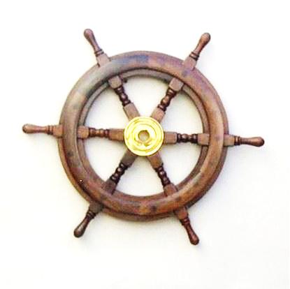 Antique Wooden Ship Wheel 15 Inch