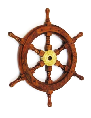 Nautical Wooden Ship Wheel 18 Inch