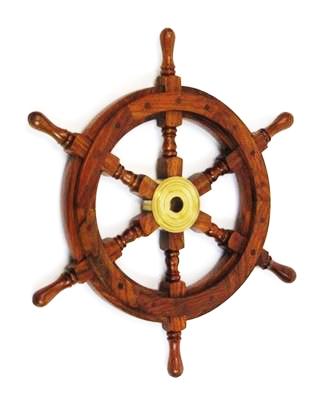 Wooden Ship Wheel 18 Inch