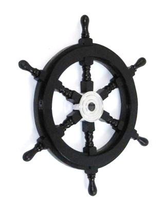 Wooden Black Pirate Ship Wheel 18 Inch