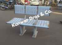 Stainless steel railway platform bench