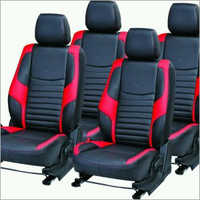 Pure Black Leather Car Seat Cover