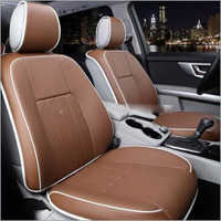 Brown Pu Leather Car Seat Cover