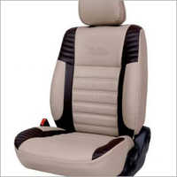 Off White Pu Leather Car Seat Cover