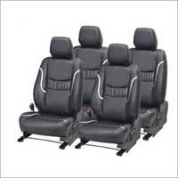 Grey Pu Leather Car Seat Cover