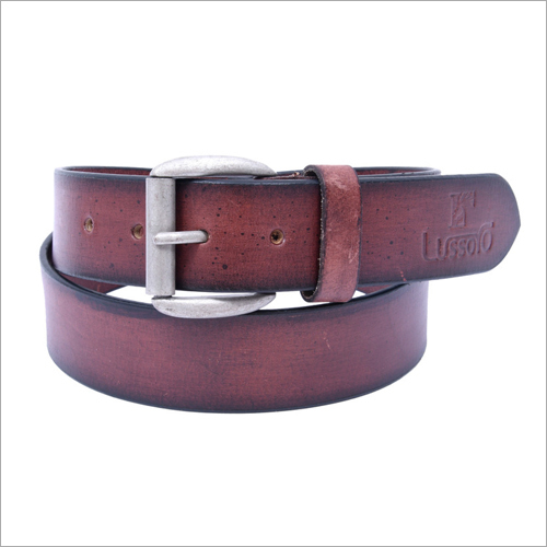 Mens Dark Brown Leather Belt