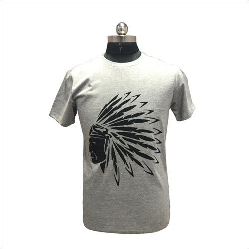 Mens Round Neck Printed T Shirt