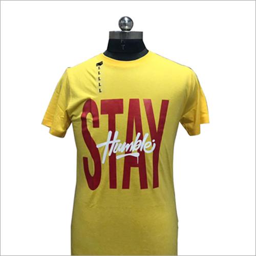 Mens Round Neck Lycra T Shirt
