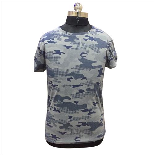 Mens Camouflage Round Neck T Shirt