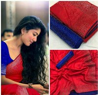 DIAMOND WORK SLIK SAREE