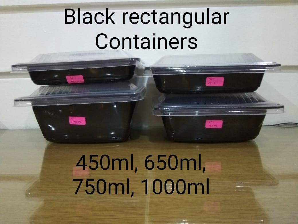 Spt black 1000ml (salad and pasta tray)