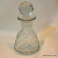 Small Glass Cutting Perfume Bottle