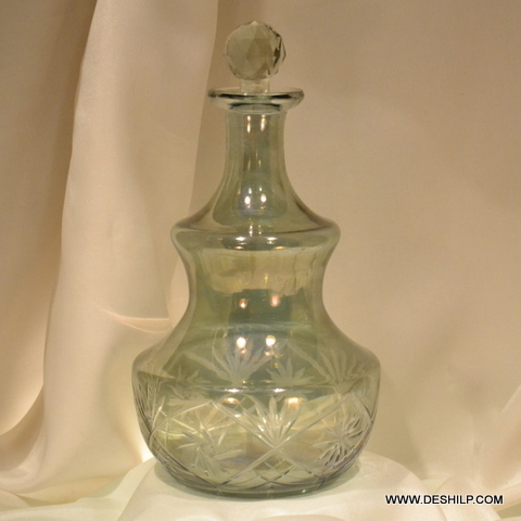 Colorful Glass Perfume Bottle & Decanter