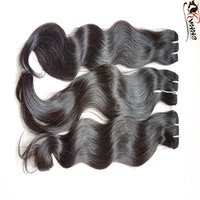 9A Wet And Wavy Bundle And Wavy Hair Indian Human Hair Extension