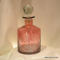 Red Glass Big Perfume Bottle