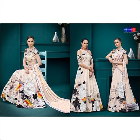Digital Printed Ladies Gown