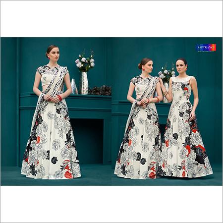 Party Wear Digital Print Gown