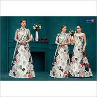 Party Wear Digital Print Gown