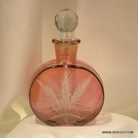 Red Glass Antique Perfume Bottle