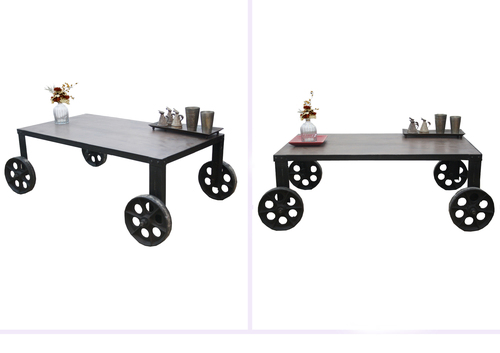 Vintage Rolling Cart Coffee Table