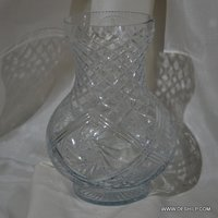 Heavy Cutting Glass Flower Vase
