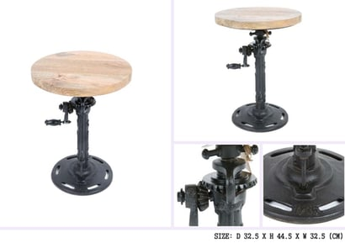 Wood Wooden Top Revolving Stool