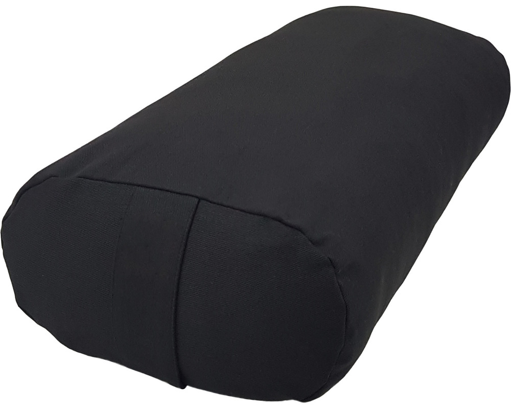 Black color meditation oval bolster