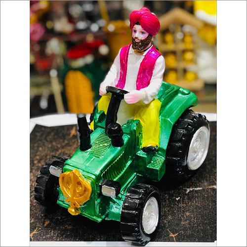 Sardar on Tractor Statue