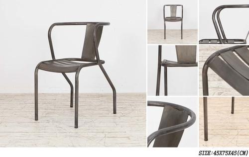 Iron Armrest Chair