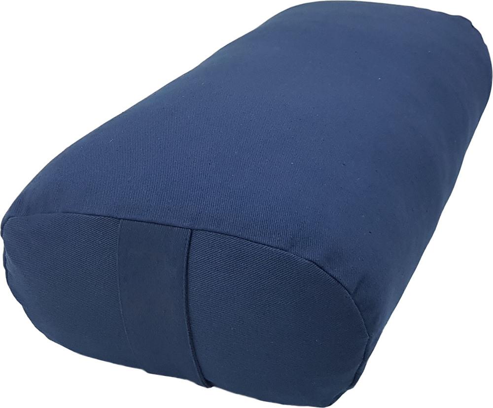 Navy blue color bolster cushion
