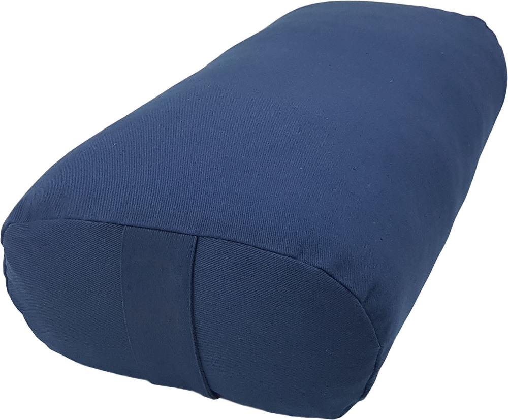 Navy Blue Color Bolster Cushion