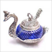 Silver Plated Decorative Duck Spoon