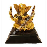 Antique Gold Plated Aluminum Ganesh Statue