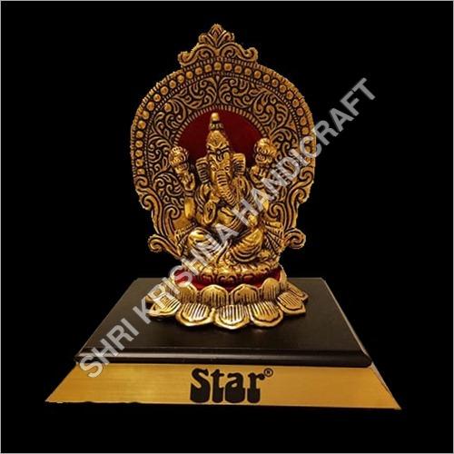 Gold Plated Aluminum Ganesh Statue