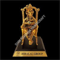 Designer Gold Plated Almunium Ganesh Statue