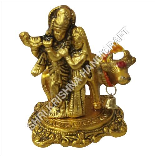 Gold Plated Aluminum Krishna Statue