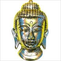 Silver Plated Aluminum Buddha Statue