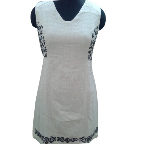 Ladies White Tunic Dress