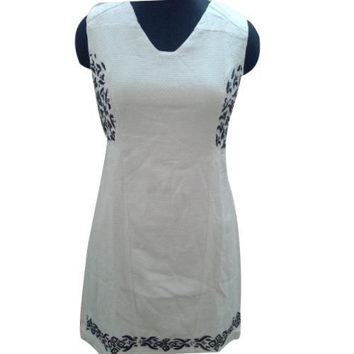 Ladies White Tunic Dress
