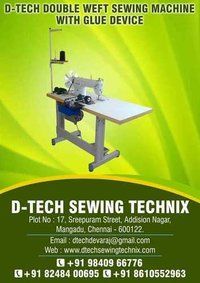 Double Weft Sewing Machine with Glue Device