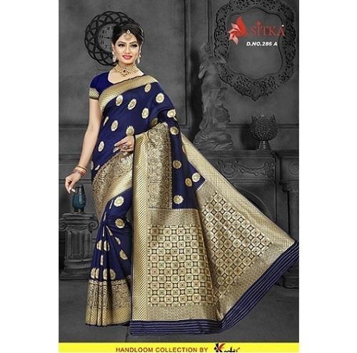 Fancy Handloom Silk Saree