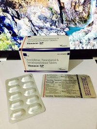 Aceclofenac 100 mg + PCM 325 mg + Serratiopeptidase 15 mg