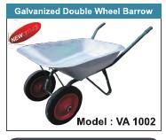 Galvanised Double Wheel Barrow