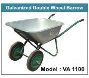 Galvanised Double Wheel Barrow