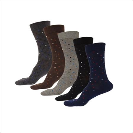 Mens Printed Cotton Formal Socks
