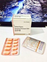 Diclofenac Potassium 50 mg + PCM 325 mg + Chlorzoxazone 250 mg